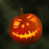 Zucca intagliata per Halloween Fotografia Stock