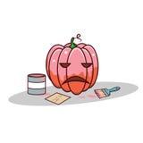 Zucca isolata di rosa del fumetto per il biglietto di S. Valentino illustrazione vettoriale