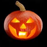 Zucca Jack O'Lantern di Halloween Fotografie Stock