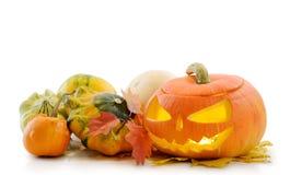 Zucca Jack O'Lantern di Halloween Fotografie Stock Libere da Diritti