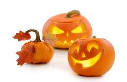 Zucca Jack O'Lantern di Halloween Fotografia Stock Libera da Diritti