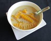 Zucca nel buad dolce del gruppo di Faktong del latte di cocco immagini stock