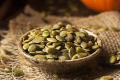 Zucca organica cruda Pepita Seeds Immagine Stock Libera da Diritti