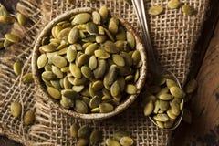 Zucca organica cruda Pepita Seeds Immagini Stock Libere da Diritti