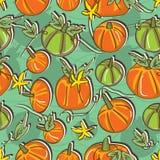 Zucca Pattern_eps senza cuciture Fotografie Stock