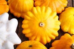 Zucca pattypan gialla immagine stock