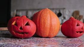 Zucca per Halloween stock footage