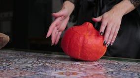 Zucca per Halloween video d archivio