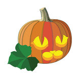 Zucca per Halloween Fotografia Stock