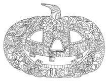 Zucca per il vettore di coloritura di Halloween illustrazione vettoriale