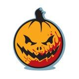 Zucca sanguinosa spaventosa della lanterna della presa o di Halloween Fotografie Stock Libere da Diritti