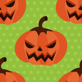 Zucca senza cuciture di Halloween del modello con i pois Fotografia Stock