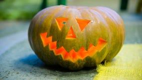 Zucca sorridente capa per Halloween Immagini Stock Libere da Diritti