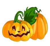 Zucca sorridente divertente di Halloween di vettore illustrazione di stock