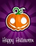 Zucca sorridente felice di Halloween Immagini Stock Libere da Diritti