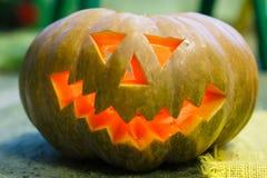 Zucca sorridente per Halloween Immagini Stock Libere da Diritti