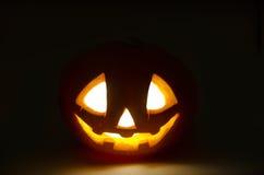 Zucca sorridente spaventosa di Halloween Fotografia Stock Libera da Diritti