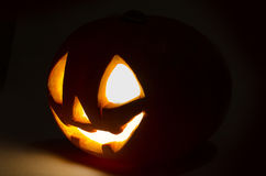 Zucca sorridente spaventosa di Halloween Fotografia Stock
