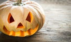 Zucca spaventosa di Halloween Fotografie Stock