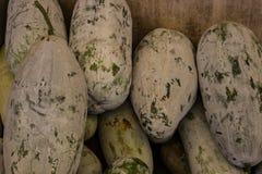 zucca su esposizione al mercato degli agricoltori Immagini Stock