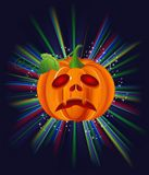 Zucca su Halloween Immagine Stock
