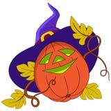 Zucca su Halloween Immagini Stock Libere da Diritti