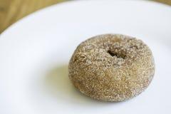 Zucca Sugar Donut Doughnut Plate fotografia stock libera da diritti