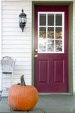 Zucca sul portico Fotografia Stock