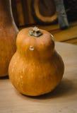 Zucca sulla tavola di legno Immagini Stock