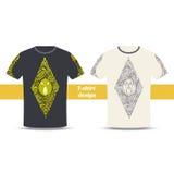Zucca una dell'estratto di progettazione della maglietta Immagine Stock