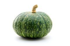Zucca verde isolata su bianco Immagini Stock
