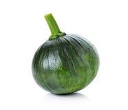 Zucca verde isolata su fondo bianco Immagine Stock