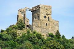 Zuccarello-Schloss in Italien stockbild