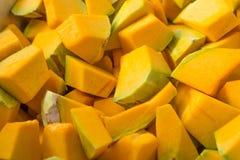 Zucche affettate Fotografia Stock Libera da Diritti