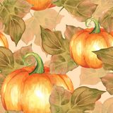 Zucche arancioni Modello senza cuciture 5 Immagini Stock