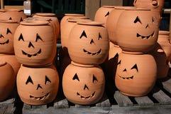 Zucche dell'argilla Fotografie Stock