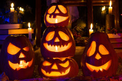 Zucche della foto per Halloween Tutto il giorno del ` dei san Immagine Stock Libera da Diritti