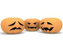 Zucche di Halloween illustrazione di stock