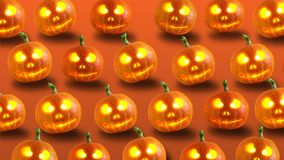 Zucche di Halloween stock footage