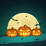 Zucche di Halloween Immagini Stock Libere da Diritti