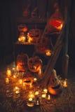 Zucche di Halloween Fotografie Stock Libere da Diritti