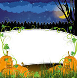 Zucche di Halloween con i germogli Immagine Stock