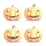 Zucche di Halloween impostate Immagine Stock Libera da Diritti