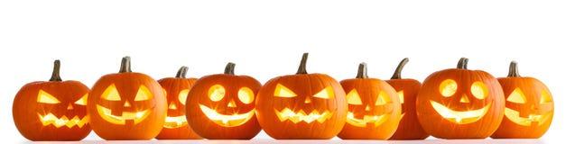 Zucche di Halloween su bianco immagini stock libere da diritti