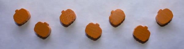 Zucche di legno Fotografia Stock