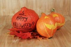 Zucche divertenti di Halloween Immagini Stock Libere da Diritti