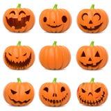 Zucche divertenti di Halloween Immagine Stock Libera da Diritti