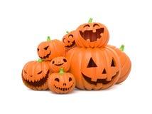 Zucche divertenti di Halloween Fotografia Stock Libera da Diritti