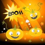 Zucche divertenti di Halloween Fotografia Stock