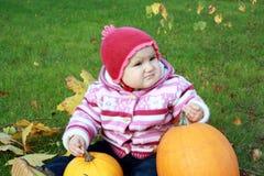zucche due del bambino Fotografia Stock Libera da Diritti